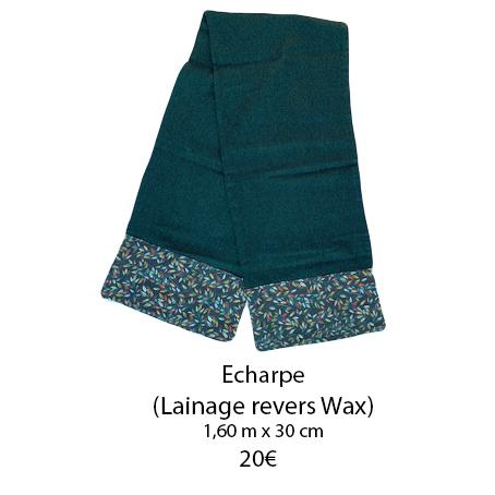340 echarpe revers wax