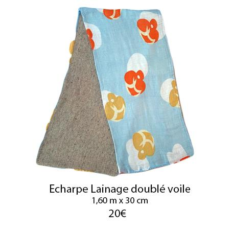 349 echarpe lainage double voile