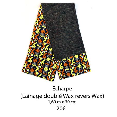 351 echarpe lainage double wax revers wax
