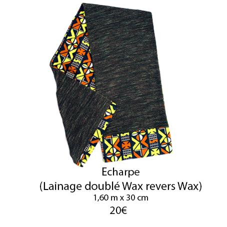 352 echarpe lainage double wax et revers wax