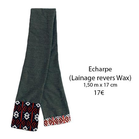 353 echarpe lainage revers wax