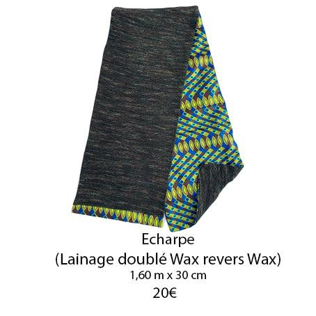 355 echarpe lainage double wax revers wax