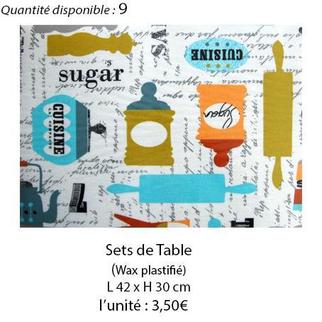 909 set de table