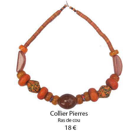 1086 collier pierres