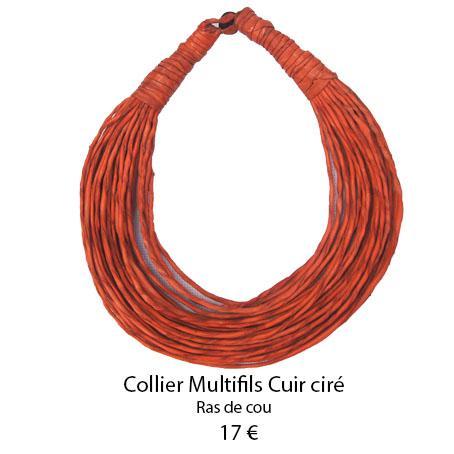 1099 collier multifils cuir