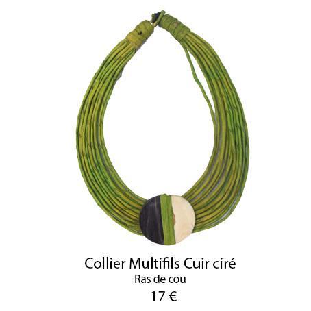 1102 collier multifils cuir