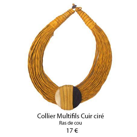 1104 collier multifils cuir