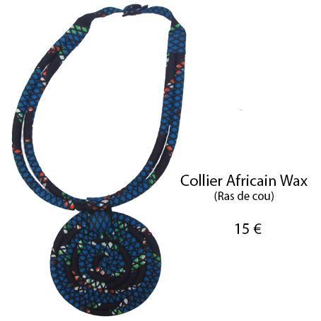 1115 collier africain wax