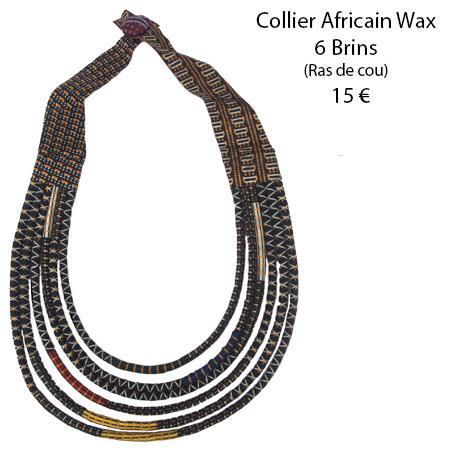 1119 collier africain wax 6 brins