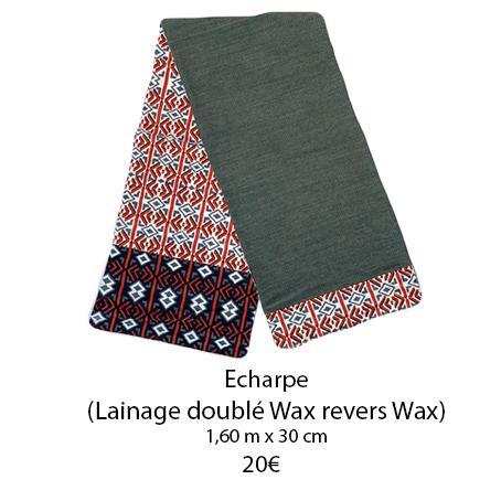 342 echarpe doublee wax revers wax
