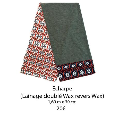 347 echarpe double wax revers wax