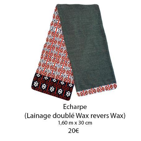 348 echarpe double wax revers wax copie
