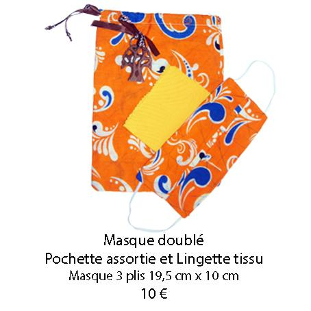 674 masque double pochette assortie et lingette tissu 1