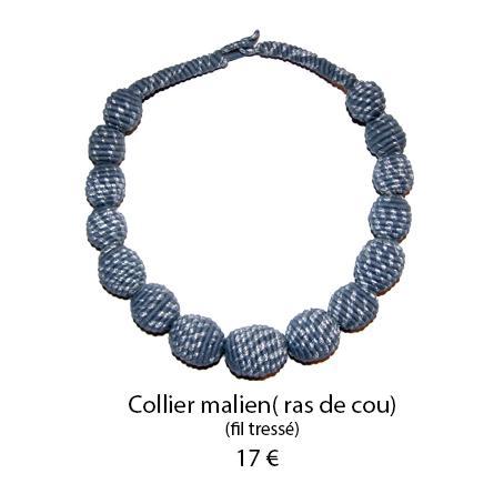 893 collier malien ras de cou