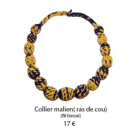 894 collier malien ras de cou