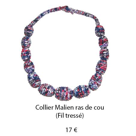 996 collier malien ras de cou