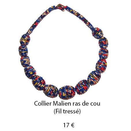 997 collier malien ras de cou