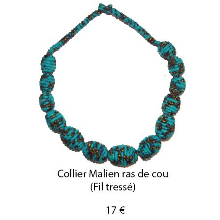 998 collier malien ras de cou